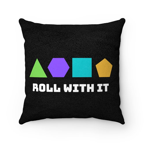 Roll With It Faux Suede Square Pillow