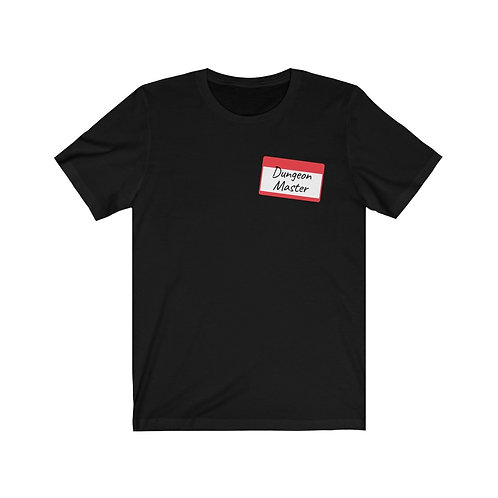 Dungeon Master Nametag Jersey Short Sleeve Tee