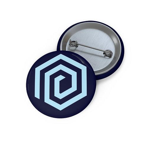 Nerd Asylum Logo Pin Buttons