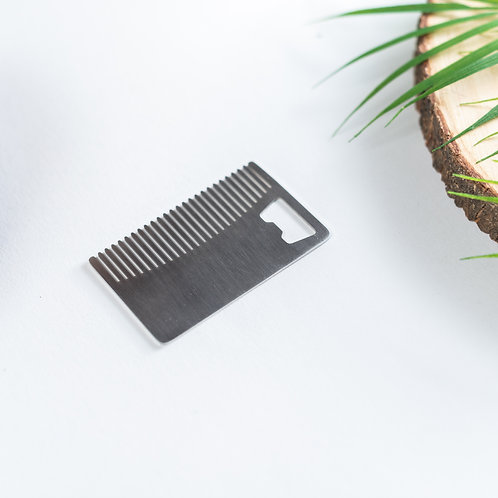 Stainless Steal Beard Comb & Bottle Opener