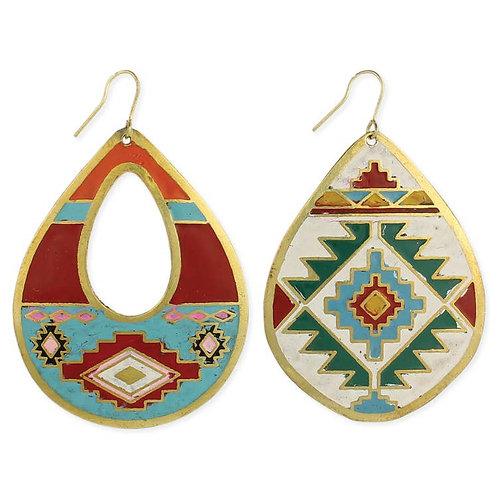 Southwest Print Earrings