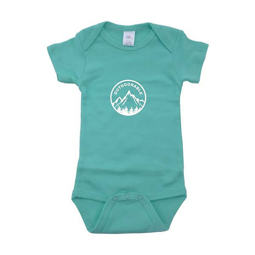 Mint with White Outdoorable Onesie
