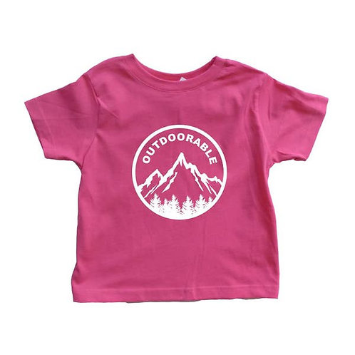 Pink with White Outdoorable Toddler Shirt