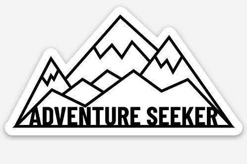 Adventure seeker sticker