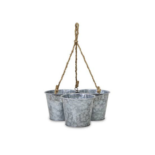 Farmhouse style hanging 3 pot planter