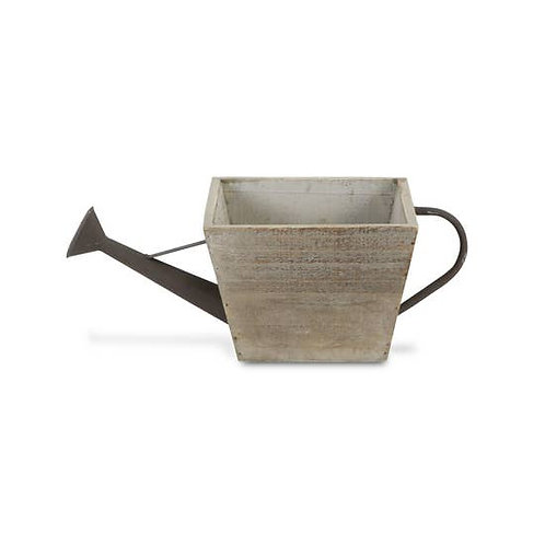Square faux watering can planter