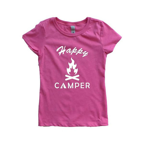 Pink with White Happy Camper Shirt