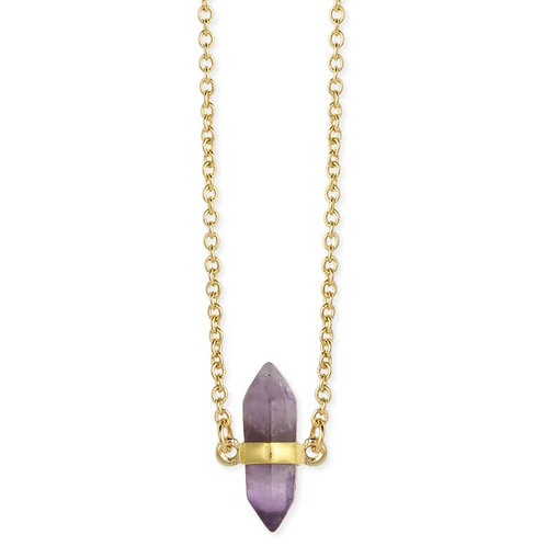Healing Crystal Amethyst Stone Necklace