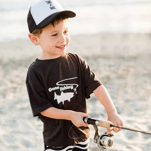 Charcoal Gone Fishing Shirt