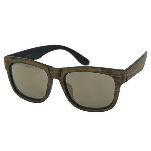 Antiqued Wood Specs Sunglasses