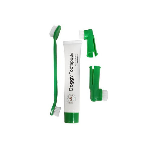 4 Piece Dental Kit with Natural Dog Toothpaste