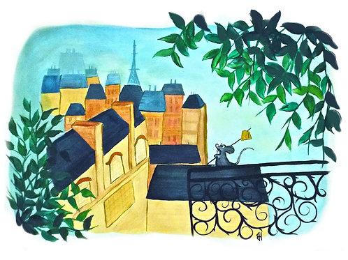 Ratatouille  little chef original painting