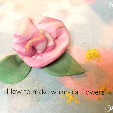 Make whimsical and simple fondant flowers
