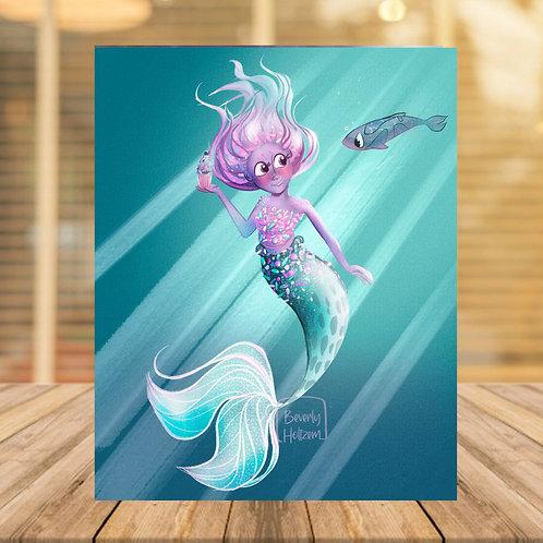 Sugar and spice mermaid 8x10 print