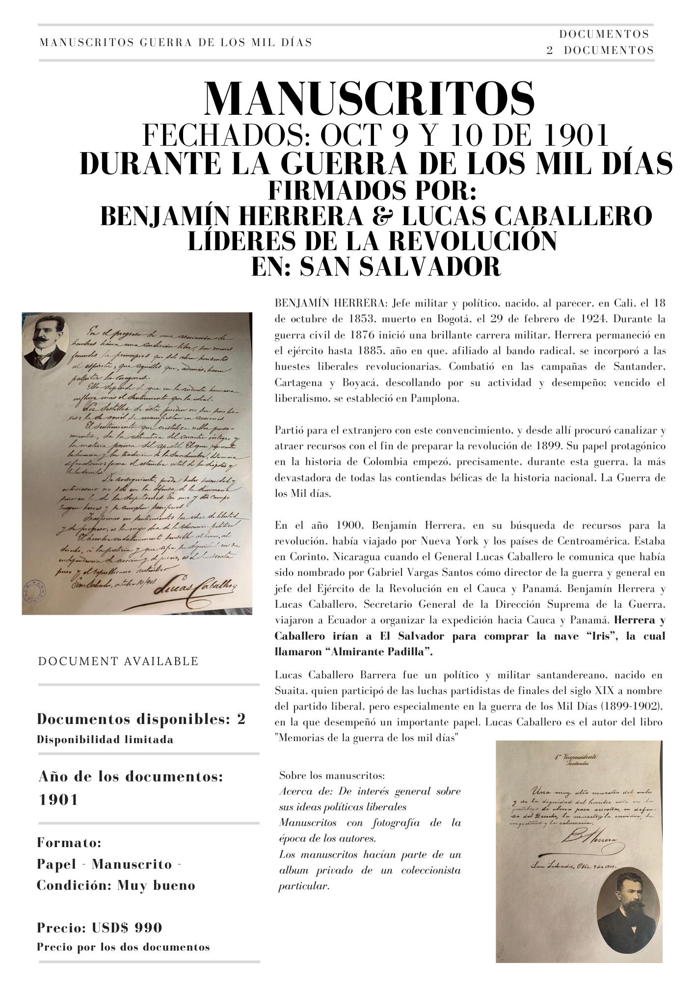 BENJAMIN HERRERA Y LUCAS CABALLERO