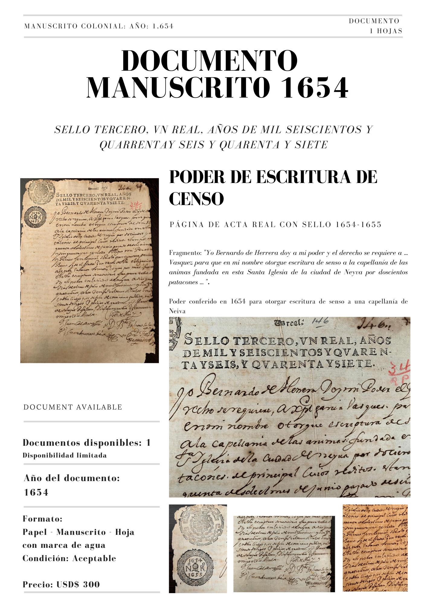 Bernardo de Herrera 1654