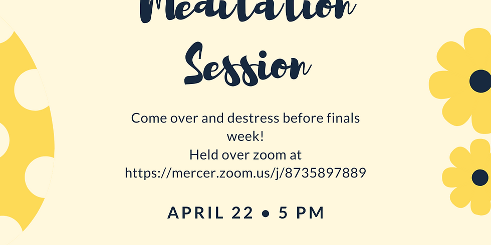 Meditation Session with Dr. Forester