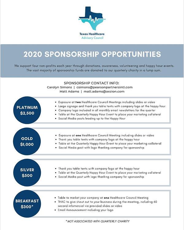 THAC Sponsorship Opportunities Feb 2020.