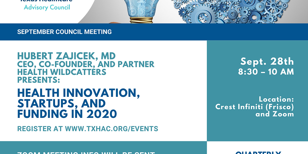 General Membership Meeting - Health Innovation, Startups, and Funding in 2020
