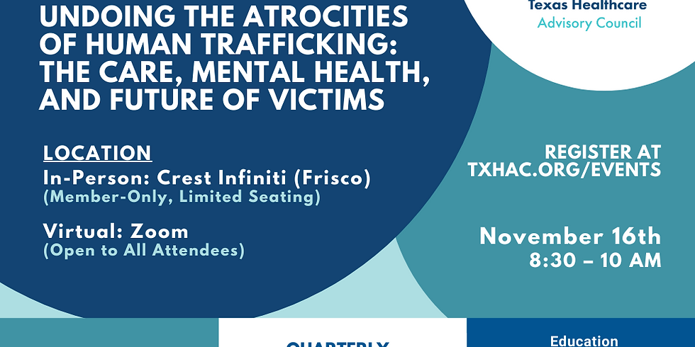 General Membership Meeting - Undoing the Atrocities of Human Trafficking: The Care, Mental Health, and Future of Victims