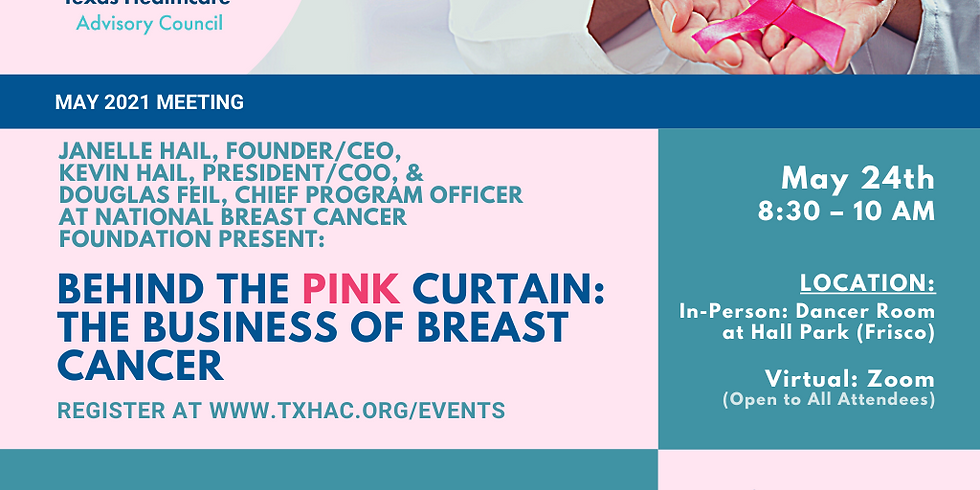 General Membership Meeting - Behind the Pink Curtain: The Business of Breast Cancer