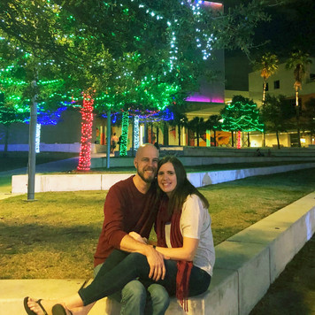 Out enjoying some festive lights across the river from one of our campuses.