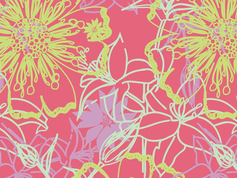 In the garden Pink