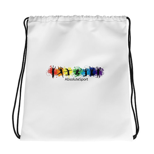 Drawstring bag with AbsoluteSport Logo