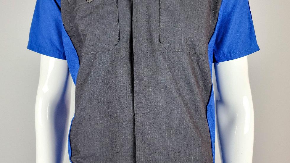 Bent Crew Shirt (Black and Blue)