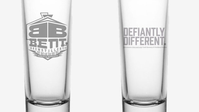 Bent Logo Shot Glass (2 pack)