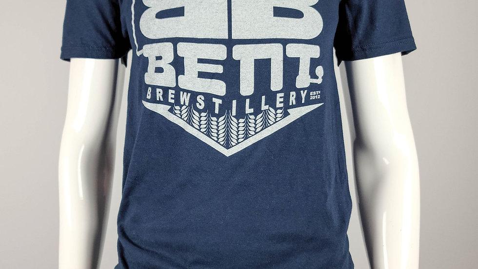 Bent Mens Blue T-Shirt
