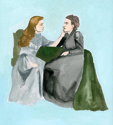 Helen Keller and Anne Sullivan Print