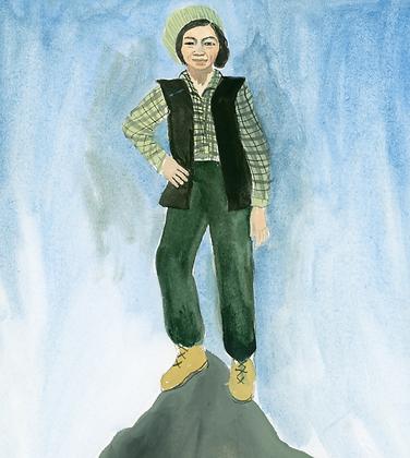 copy of Helen Keller and Anne Sullivan Print