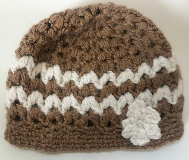 Goya Fawn and White Crochet Childrens Hat