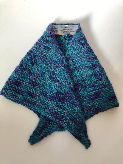 Turquoise and Purple Collar Scarf