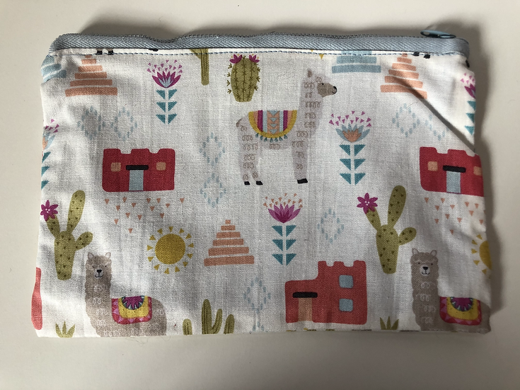 Alpaca Print Make-up Bag/Pencil Case