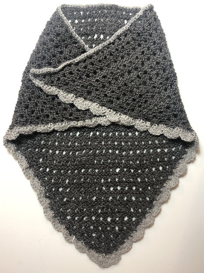 Blueberry and Escalibur Knitted Shawl