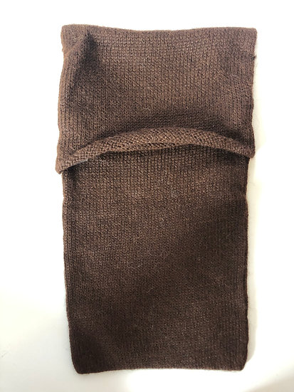 Galileo Brown Machine Knitted Hot Water Bottle Cover