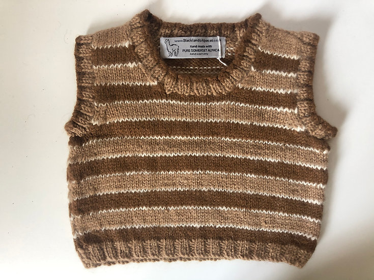 Mixed Browns Waistcoat Jumper 3-4yrs