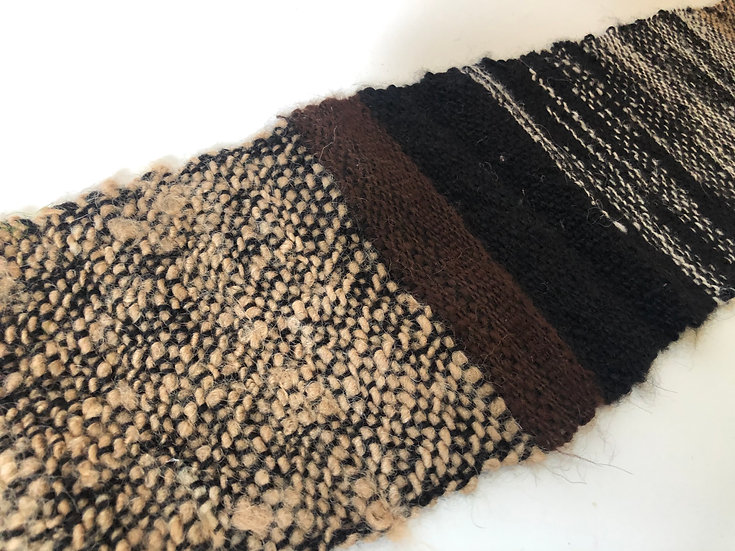 Woven Scarf - Mixed Blacks and Browns