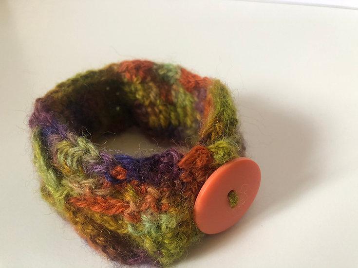 Bracelet, mixed hand dyed