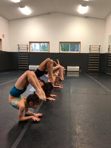 TNJ dancers in the studio