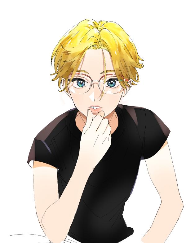 メガネ金髪