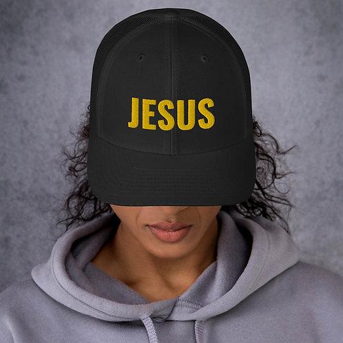 """Jesus"" Embroider Trucker Cap"