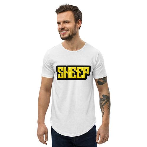 """Men's Curved Hem """"Sheep"""" T-Shirt"""