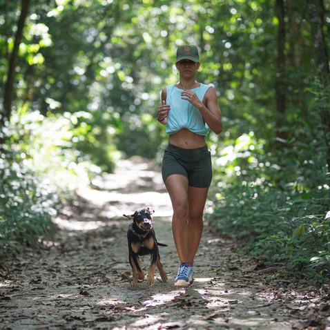 Trail running en y fuera de la Reserva Caoba