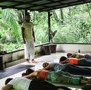 Terraza Arawana para yoga y seminarios