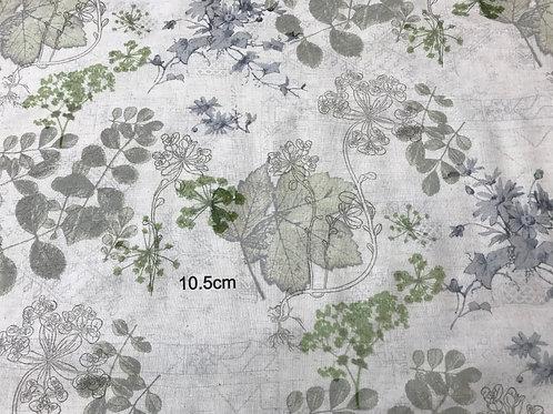N-2002 国産プリント 花と葉