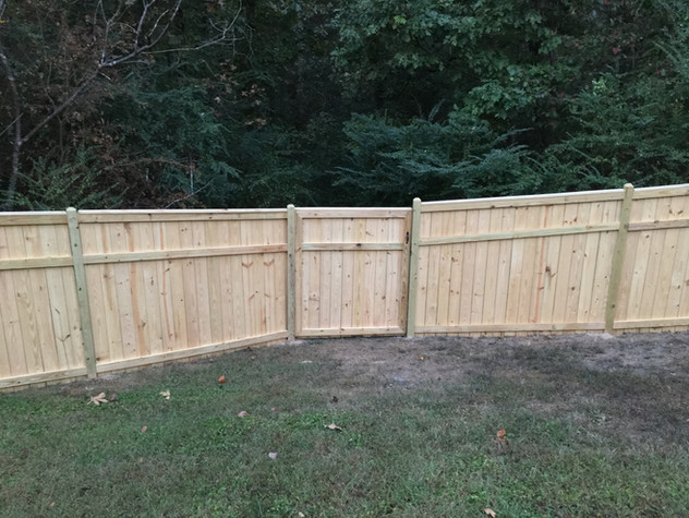 Custom Wooden Privacy Fence