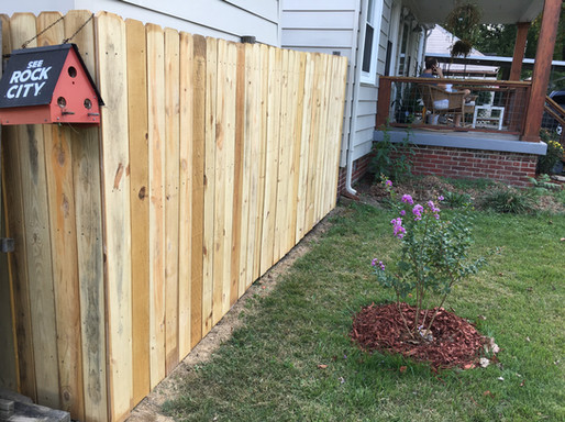 Wooden Privacy Fence replacement of old fence